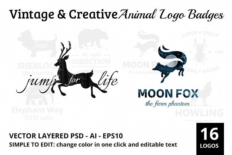 Vintage & Creative Animal Logo Badge example image 1