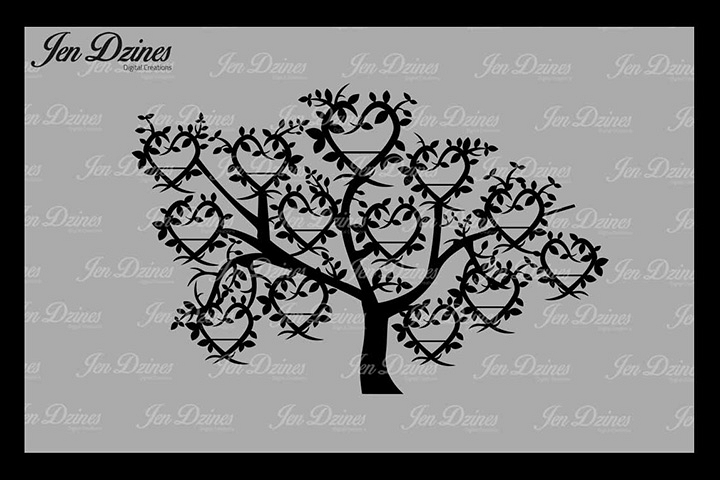 Family Tree 13 Names SVG DXF EPS PNG example image 1