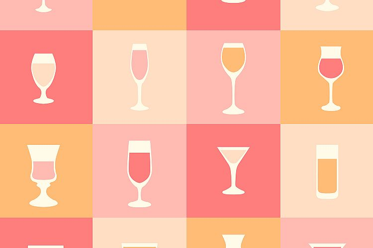 Set of cocktail icons example image 1