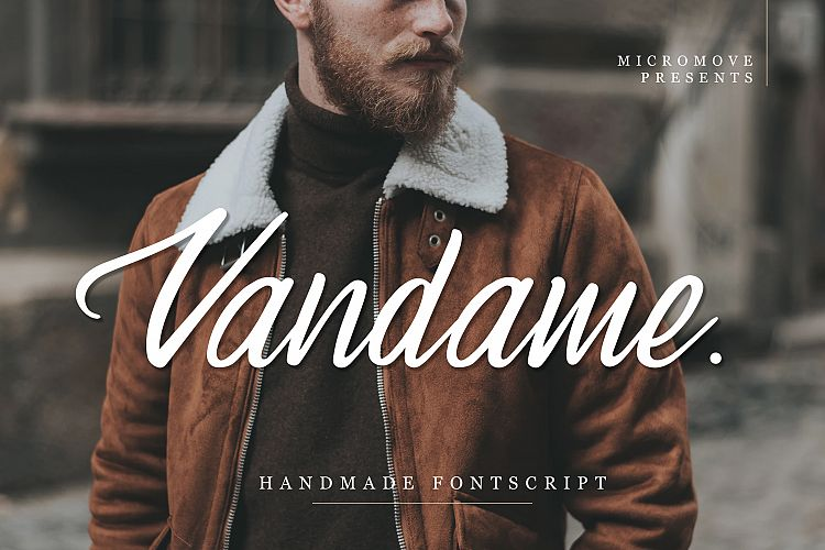 Vandame - Fontscript example image 1