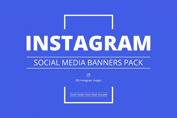 Instagram Social Media Banners Pack example image 1