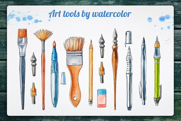 Art tools by watercolor example image 1