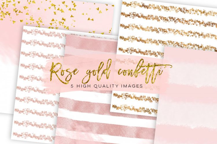 Rose Gold Foil Glitter Textures, Rose Gold Digital Paper, Modern Digital Paper, Digital Paper Commercial Use, Rose Gold Foil Print Patterns example image 1