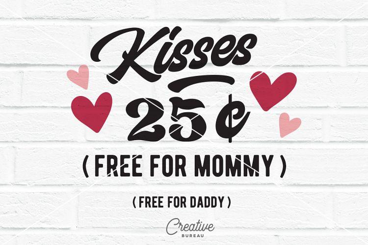 Download Kisses 25 Cents Svg Dxf, Valentine Svg, Free Kisses Svg