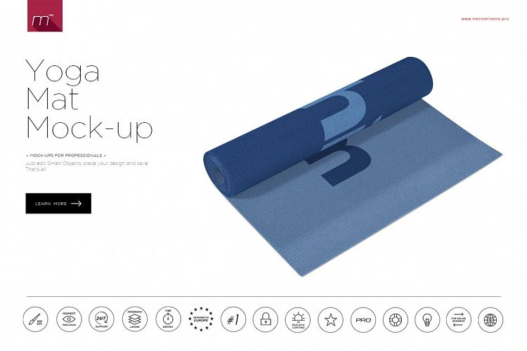 Yoga Mat Mock-up example image 1