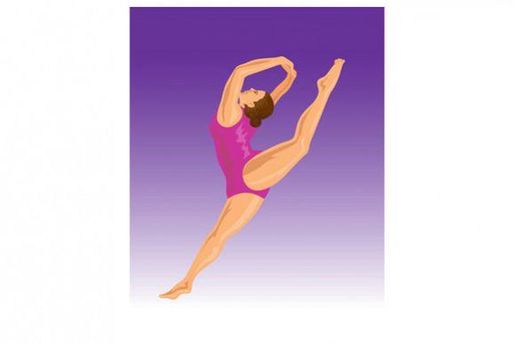 Gymnast Jumping Split example image 1