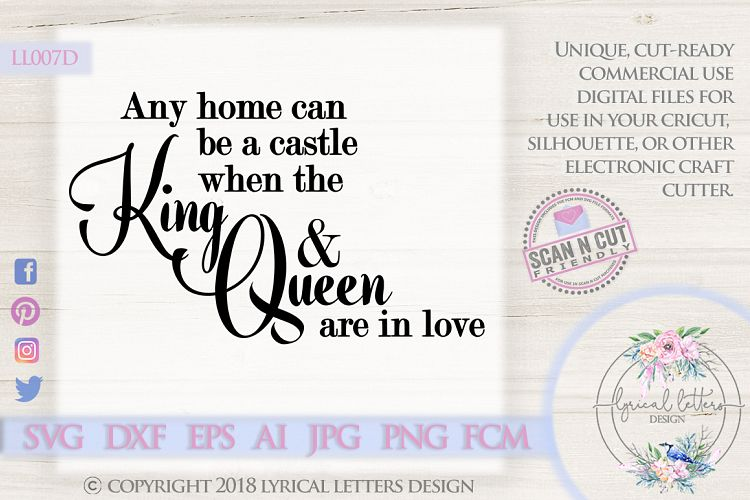 Any Home Can Be a Castle Fairy Tale Wedding SVG DXF LL007D example image 1