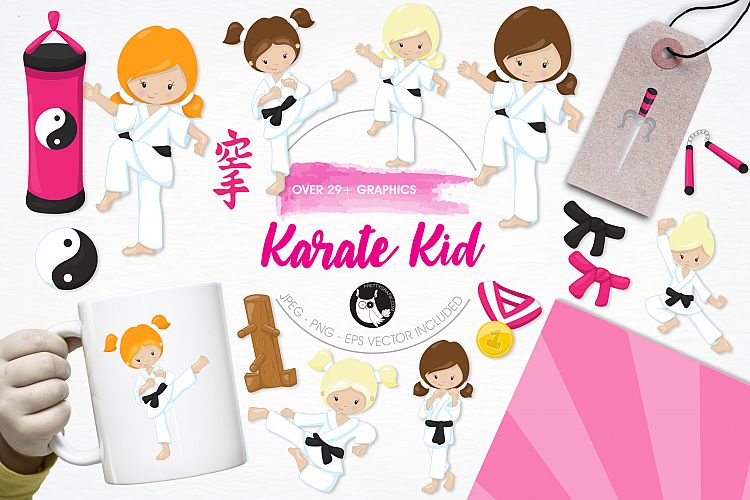 Karate Kid  graphics and illustrations example image 1
