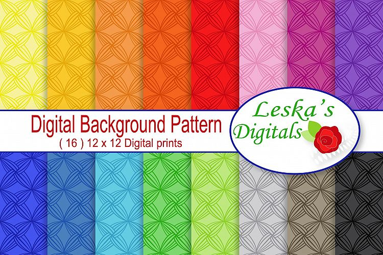 Digital Paper Backgrounds - Rainbow example image 1