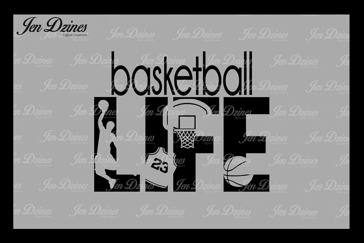 Basketball Life SVG DXF EPS PNG example image 1
