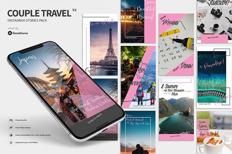 Couple Travel Instagram Stories