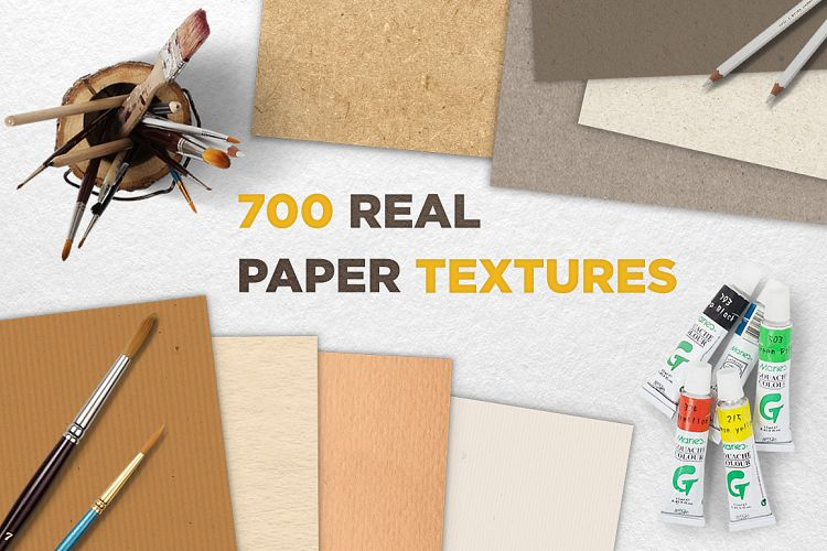 700 Real Paper Textures Great Bundle example image 1