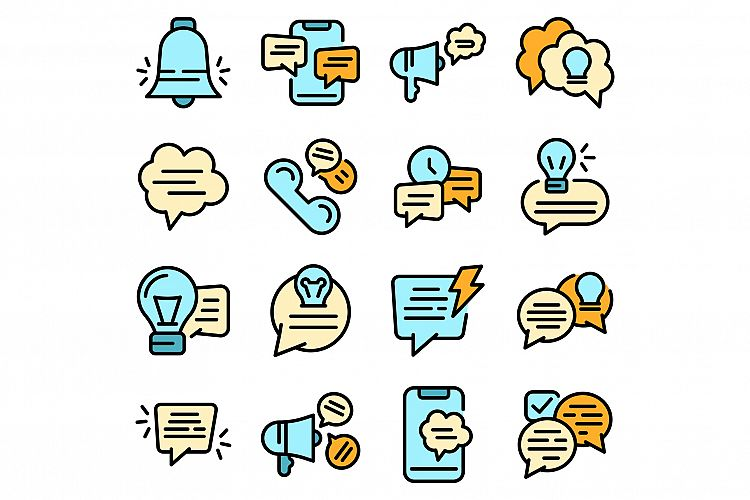 Tips icons set vector flat example image 1