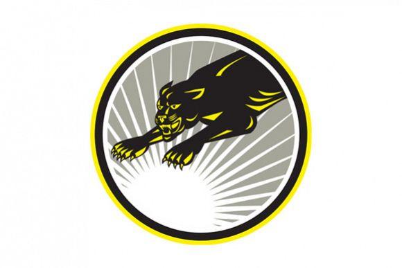 Panther Big Cat Growling Circle example image 1