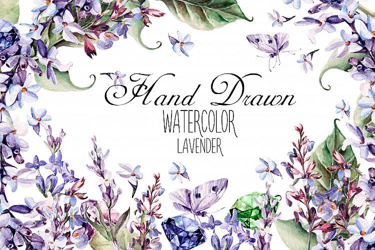 Beautiful watercolor Lavender example image 1