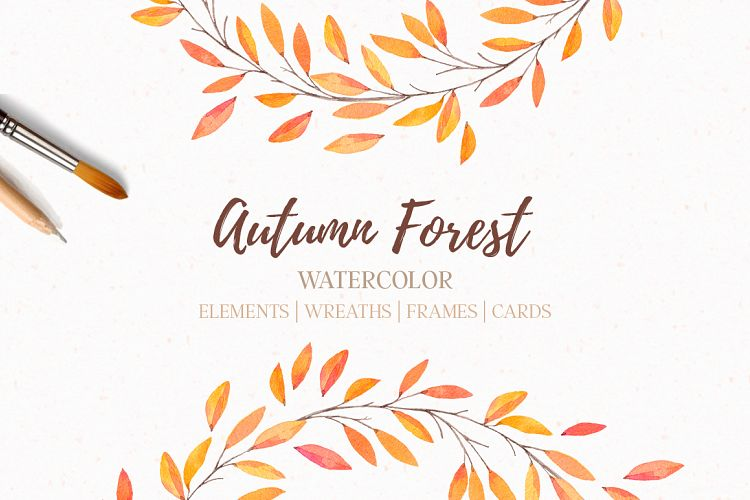 Autumn forest | Watercolor | Fall example image 1