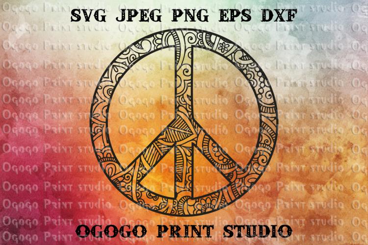 Peace Svg Hipster Svg Zentangle SVG Mandala svg Cricut