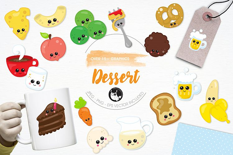 Dessert graphics and illustrations example image 1