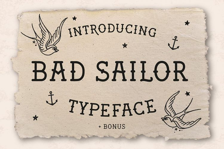 Bad Sailor Typeface example image 1
