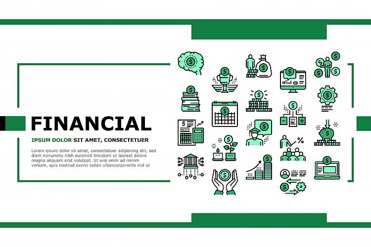 Financial Education Landing Header Vector example image 1
