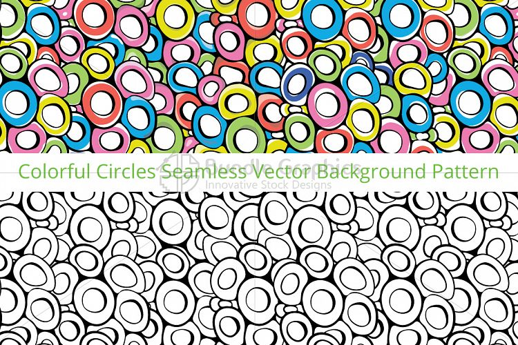 Circles - Colorful Vector Pattern example image 1