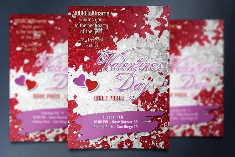 Valentine's Day Party - Invite card example image 1