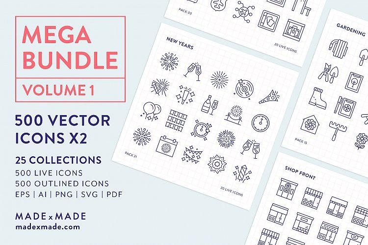 Line Icons  Mega Bundle Vol 1 example image 1