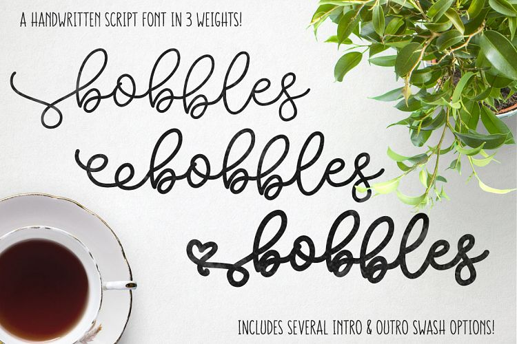 Bobbles - A script font in 3 weights! example image 1