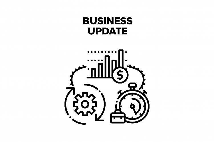 Business Update Vector Black Illustration example image 1