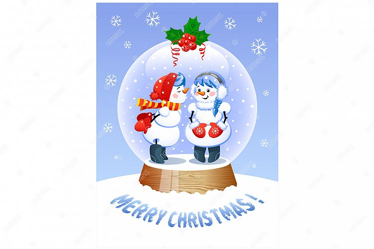 Merry Christmas Cute Christmas Snow Globe