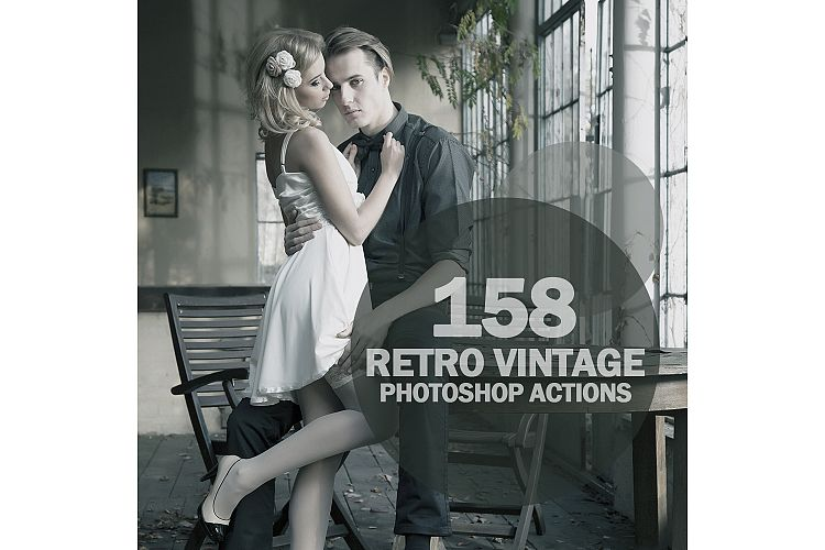 158 Retro Vintage Photoshop Actions Collection (Action for photoshop CS5,CS6,CC) example image 1