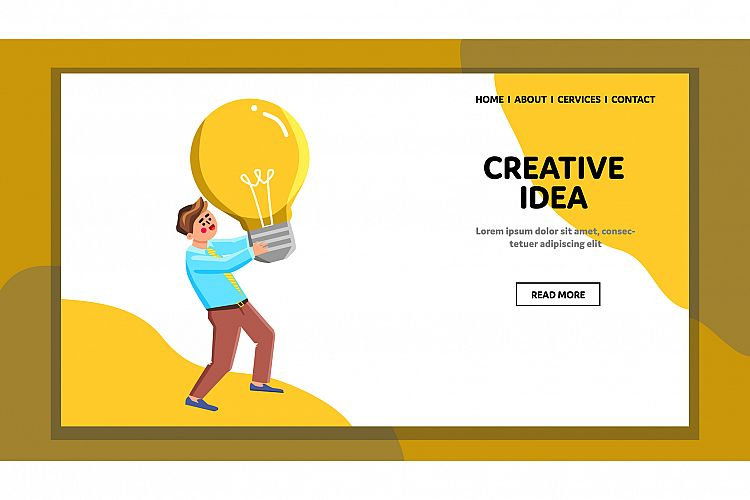 Creative Idea Searching And Finding Man Vector example image 1