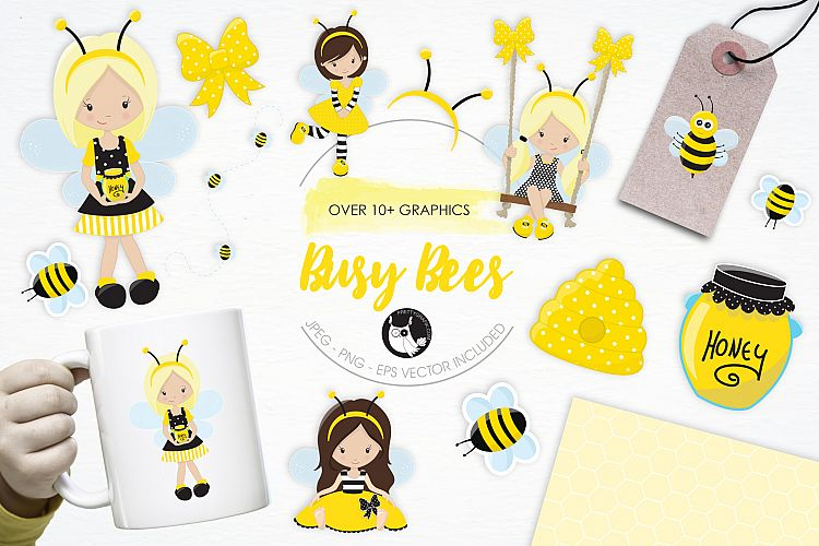 Busy Bees graphics and illustrations example image 1
