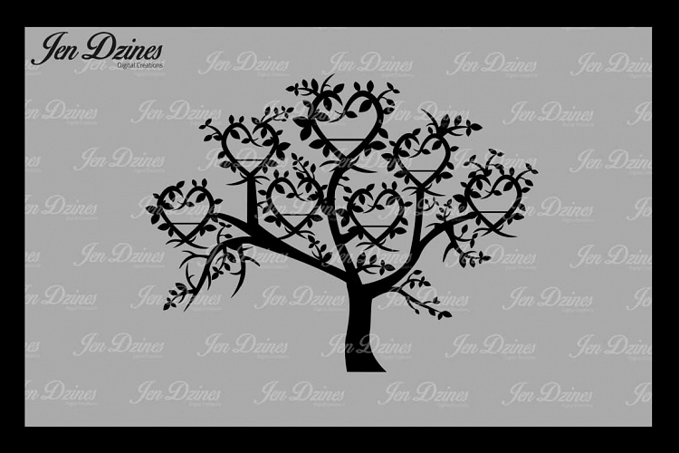 Family Tree 7 Names SVG DXF EPS PNG example image 1