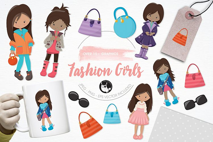 Fashion Girls graphics and illustrations example image 1
