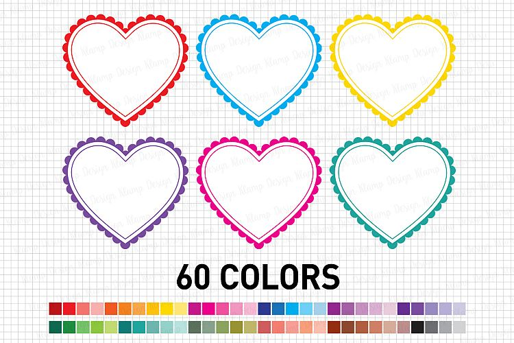Heart Graphic and Illustrations, Valentine Heart Clip Art example image 1