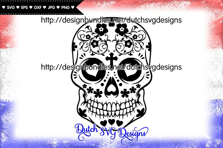 Sugar skull cut file, sugar skull svg, sugar skull vector example image 1