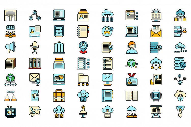 Customer database icons set vector flat example image 1