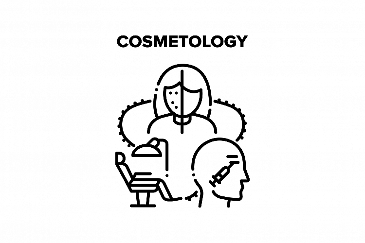 Cosmetology Vector Black Illustration example image 1