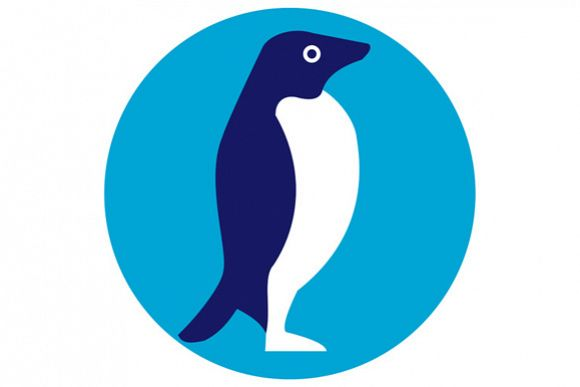 Adelie Penguin Circle Retro example image 1