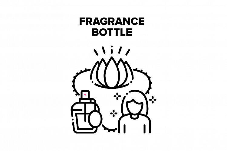 Fragrance Bottle Vector Black Illustration example image 1