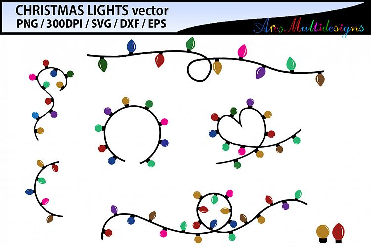Christmas Graphics Vector.Christmas Light Vector Svg Vector Christmas Light Svg Cut