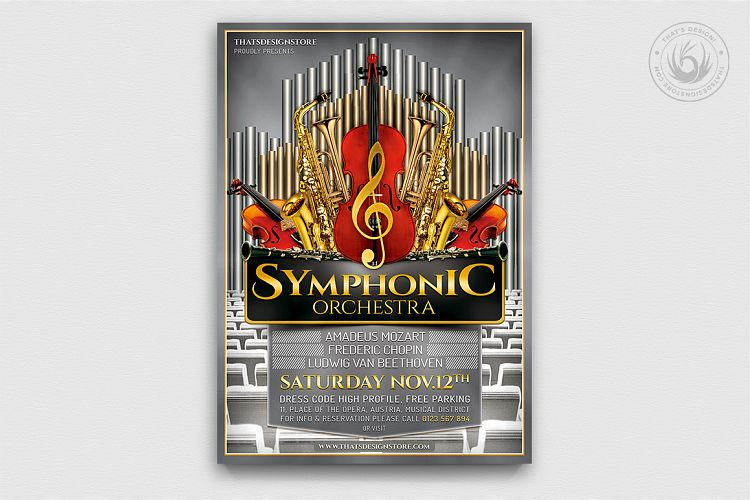 Symphonic Orchestra Flyer Template V1 example image 1