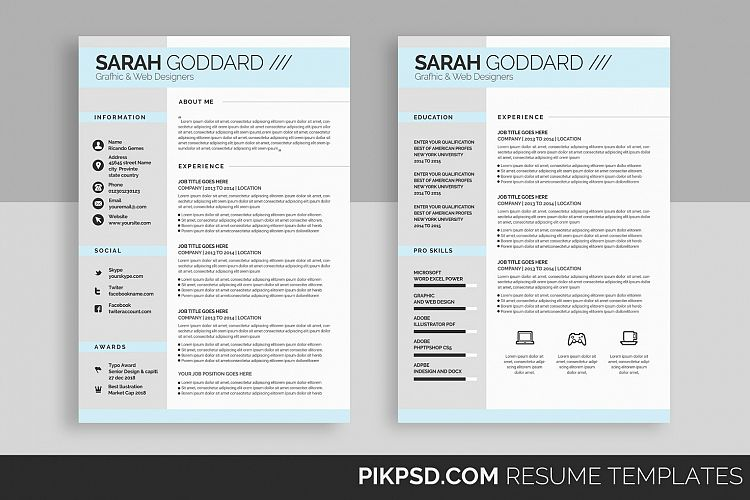 Viewing Product Stylish Resume Template Set