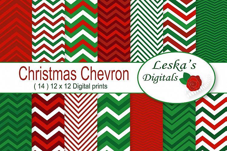 Christmas Chevron Patterns example image 1