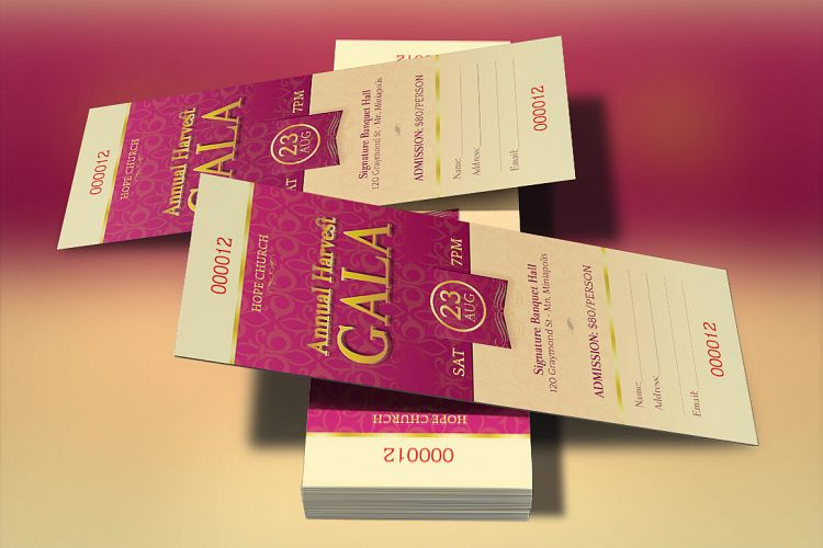 Church Banquet Ticket Template example image 1