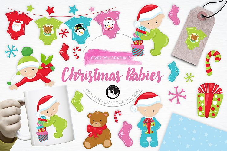 Christmas Babies graphics and illustrations example image 1
