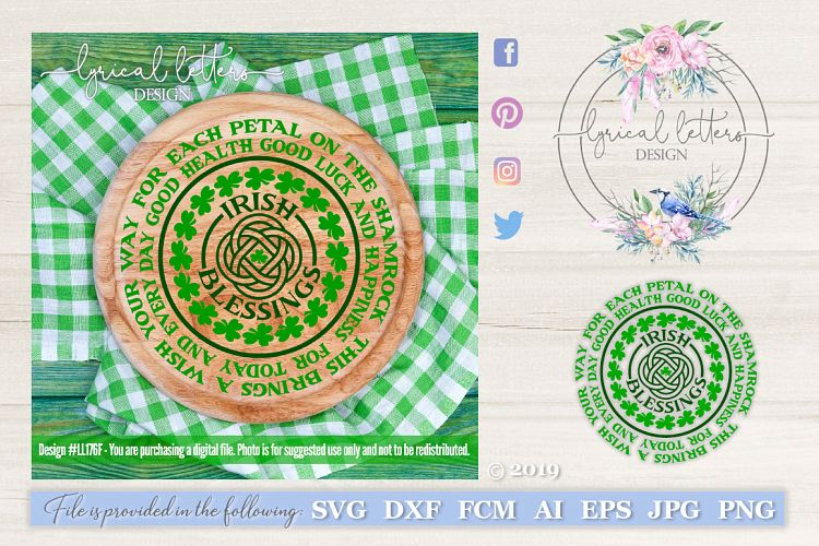 Irish Blessing St. Patrick's Day SVG DXF Cut File LL176F example image 1