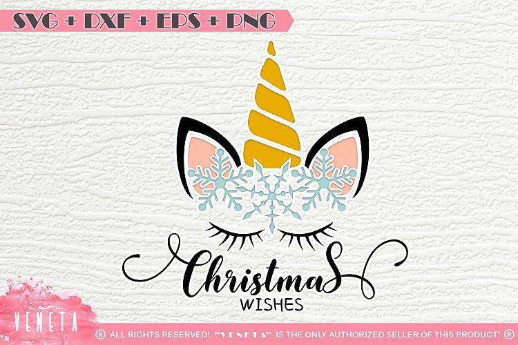 Unicorn | Christmas | Snowflakes | SVG DXF EPS |Cutting File