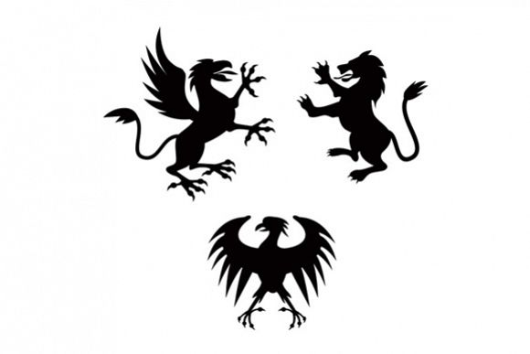 Griffin Lion Silhouette example image 1
